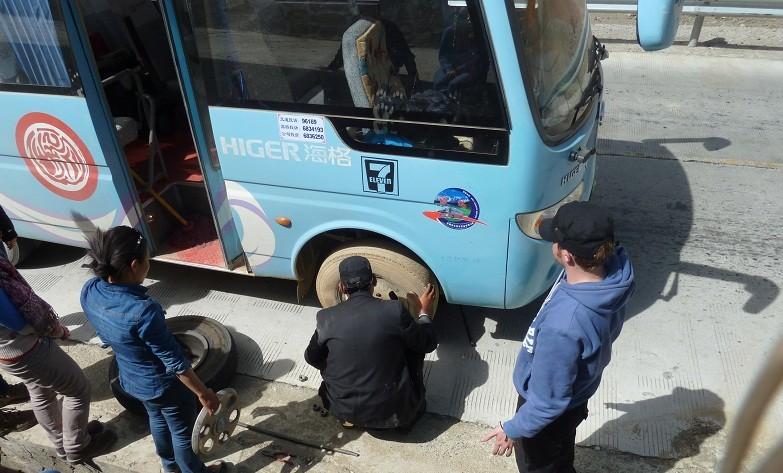 ...und schliesslich hatten wir eine Reifenpanne.
