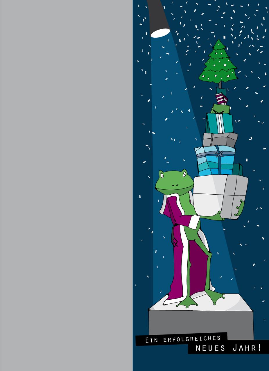 Weihnachtskarte als Dank für Kooperationpartner