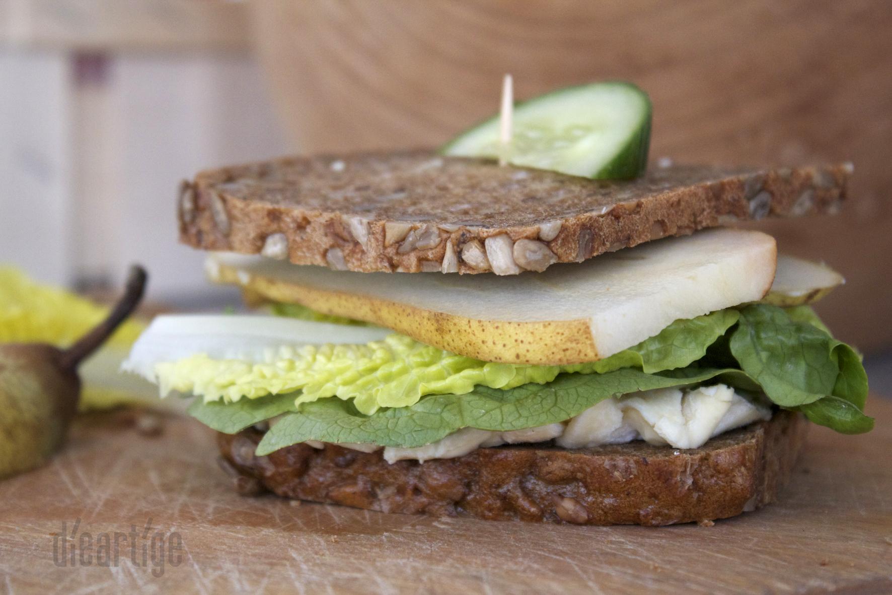 dieartigeBLOG - Sandwich mit La Ficelle + Birne
