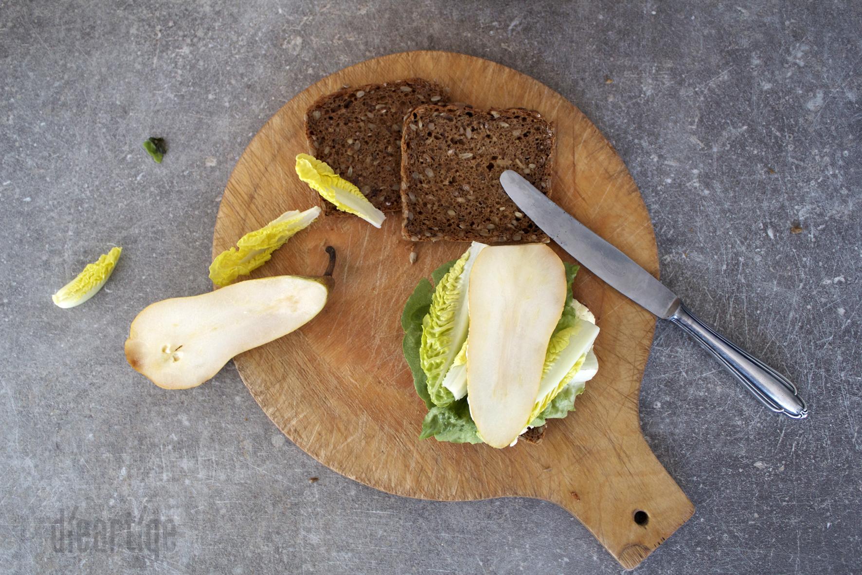 dieartigeBLOG - Sandwich mit La Ficelle + Birne | + Birne