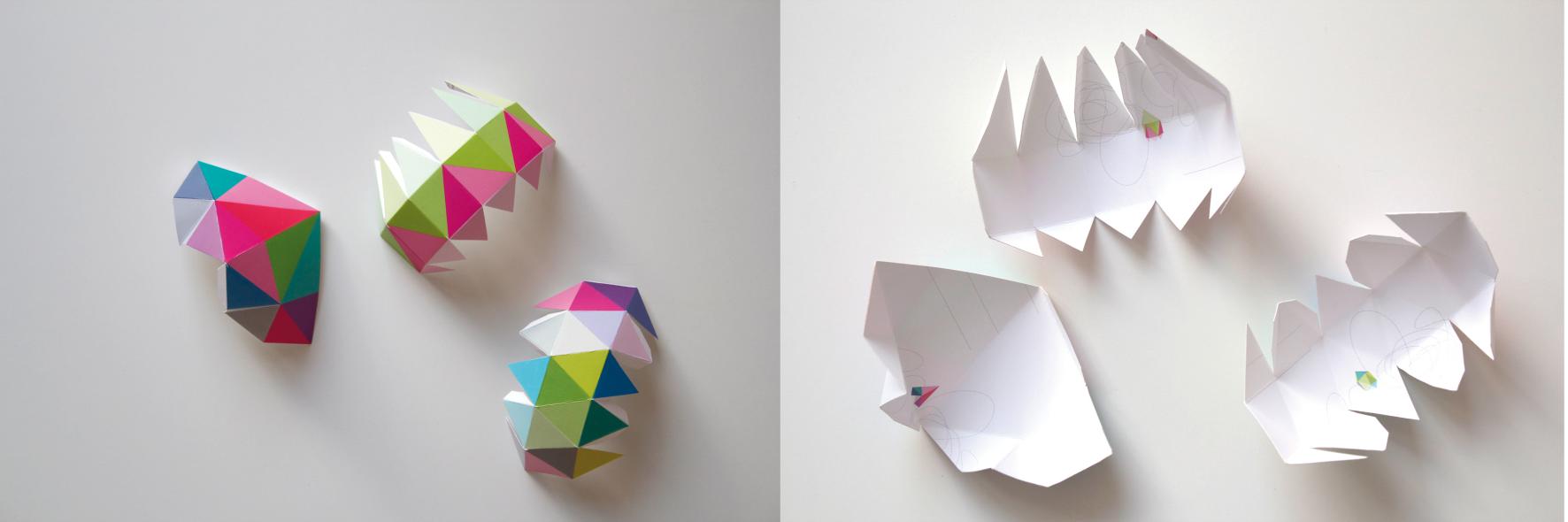 dieartigeBLOG, DIY, Postkarten, Origami, Papier, Dekoration, 3D-Objekte bauen
