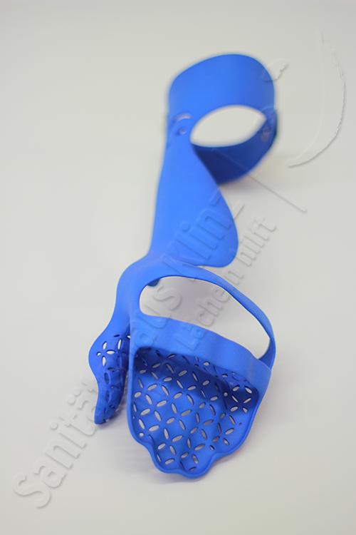 Armorthese Handorthese Nachtschiene Lagerungsorthese Orthese 3D-Druck atmungsaktiv WHO HO Schlaganfall Apoplex Parese Sanitätshaus Klinz Bernburg