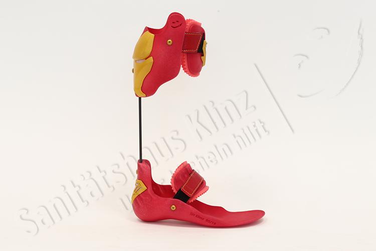 Fußorthese Fussorthese Unterschenkelorthese Orthese 3D-Druck DAFO AFO Spitzfuß Knickfuß Klumpfuß Parese Sanitätshaus Klinz Bernburg