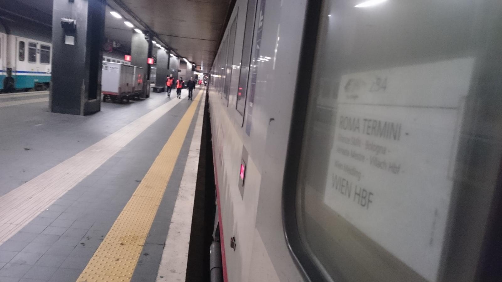 bequem per Schlafwagen von Rom zurück nach Wien