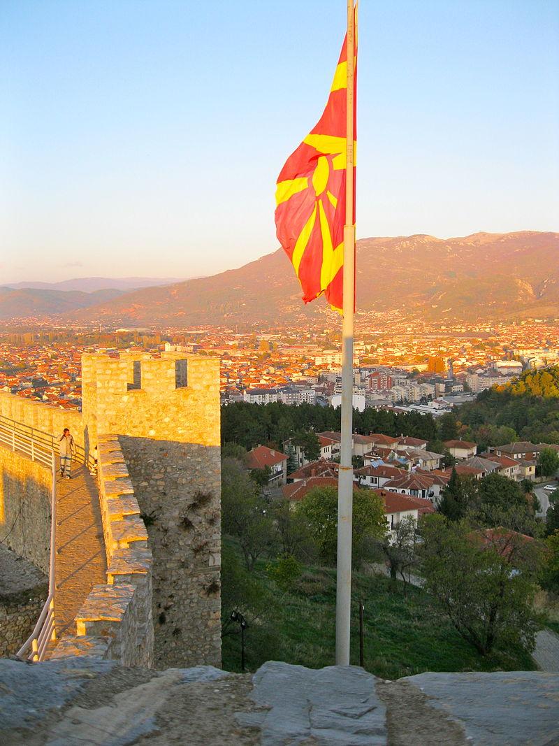 Blick auf die Skopje, die Hauptstadt der jungen Republik Mazedonien