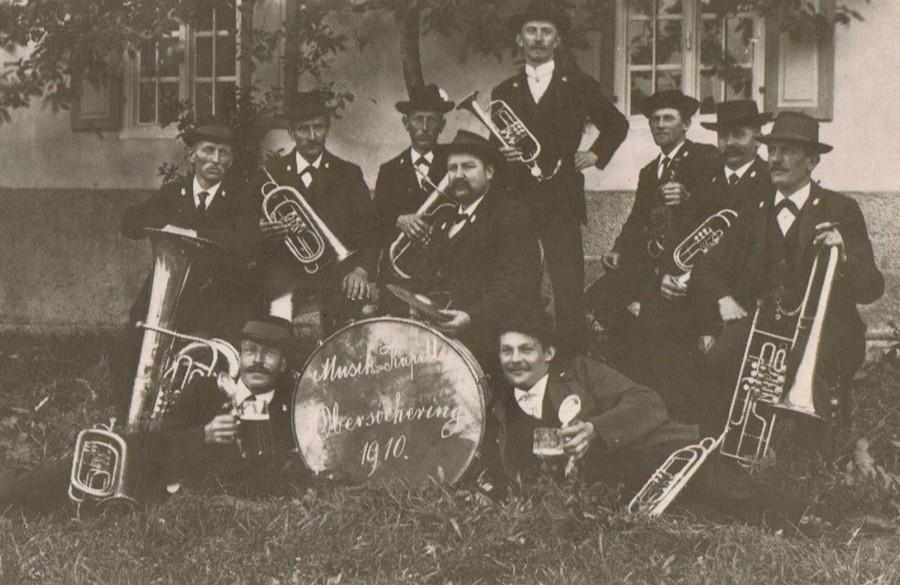 Die Musikkapelle Obersöchering im Jahr 1910