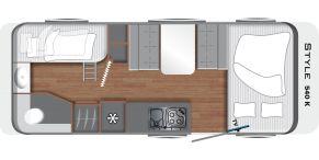 Grundriss Grundriss LMC Caravan Style 540 K