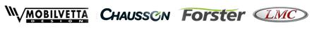 Mobilvetta, Chausson, Forster, LMC Logo