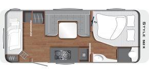 Grundriss LMC Caravan Style 582 K