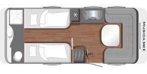 Grundriss LMC Caravan Musica 542 E