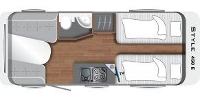 Grundriss LMC Caravan Style 450 E