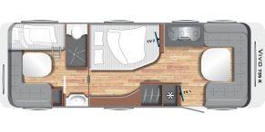 Grundriss LMC Caravan Vivo 735 K