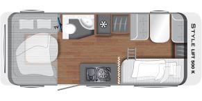 Grundriss LMC Caravan Style Lift 500 K