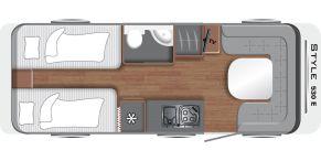 Grundriss LMC Caravan Style 530 E