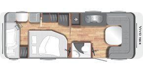 Grundriss Grundriss LMC Caravan Vivo 705 K