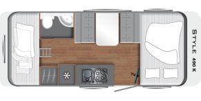Grundriss LMC Caravan Style 490 K