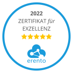 Erento Zertifikat für Exzellenz 2021