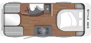 Grundriss LMC Caravan Style 450 D