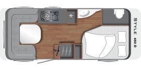 Grundriss LMC Caravan Style 460 D