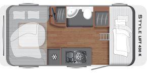 Grundriss LMC Caravan Style Lift 430 K