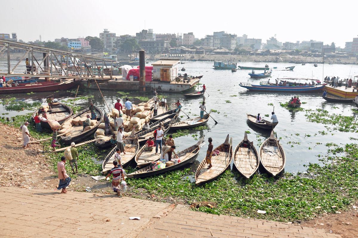 Sadarghat, de haven nabij Dhaka en kloppend hart van Dhaka