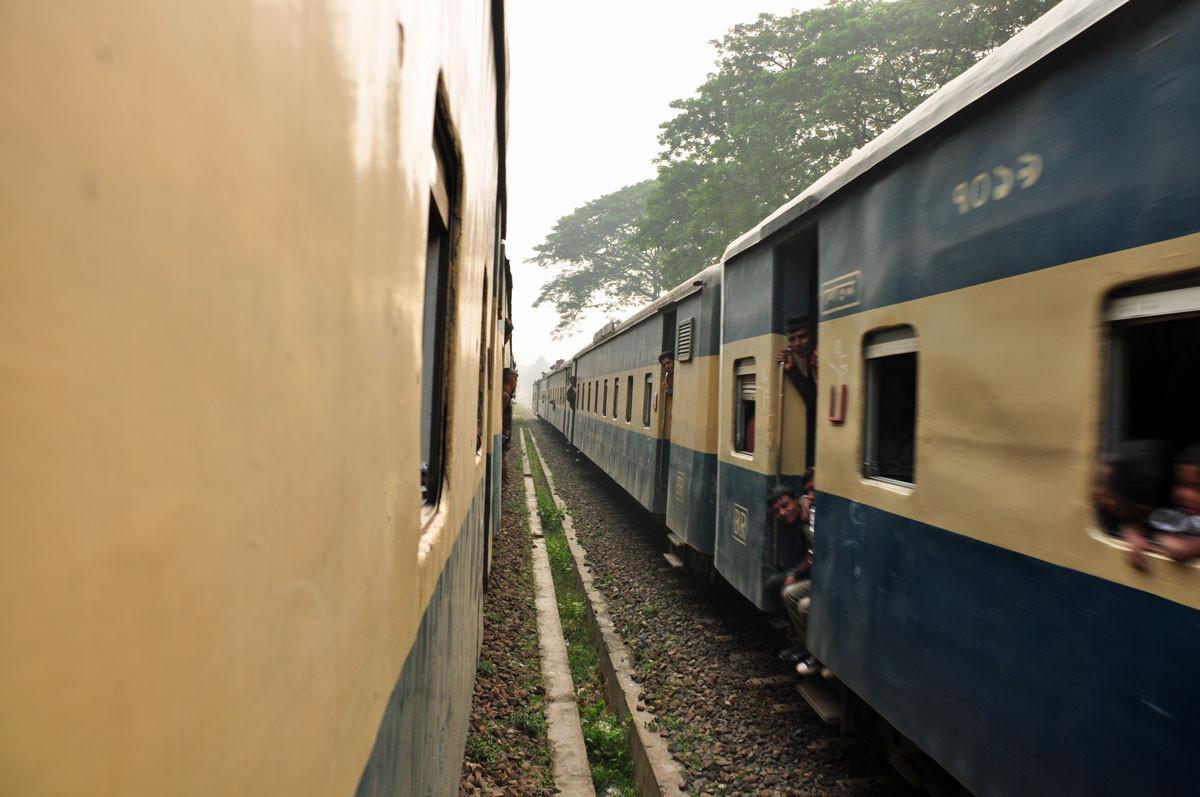 de trein, altijd een beetje reizen