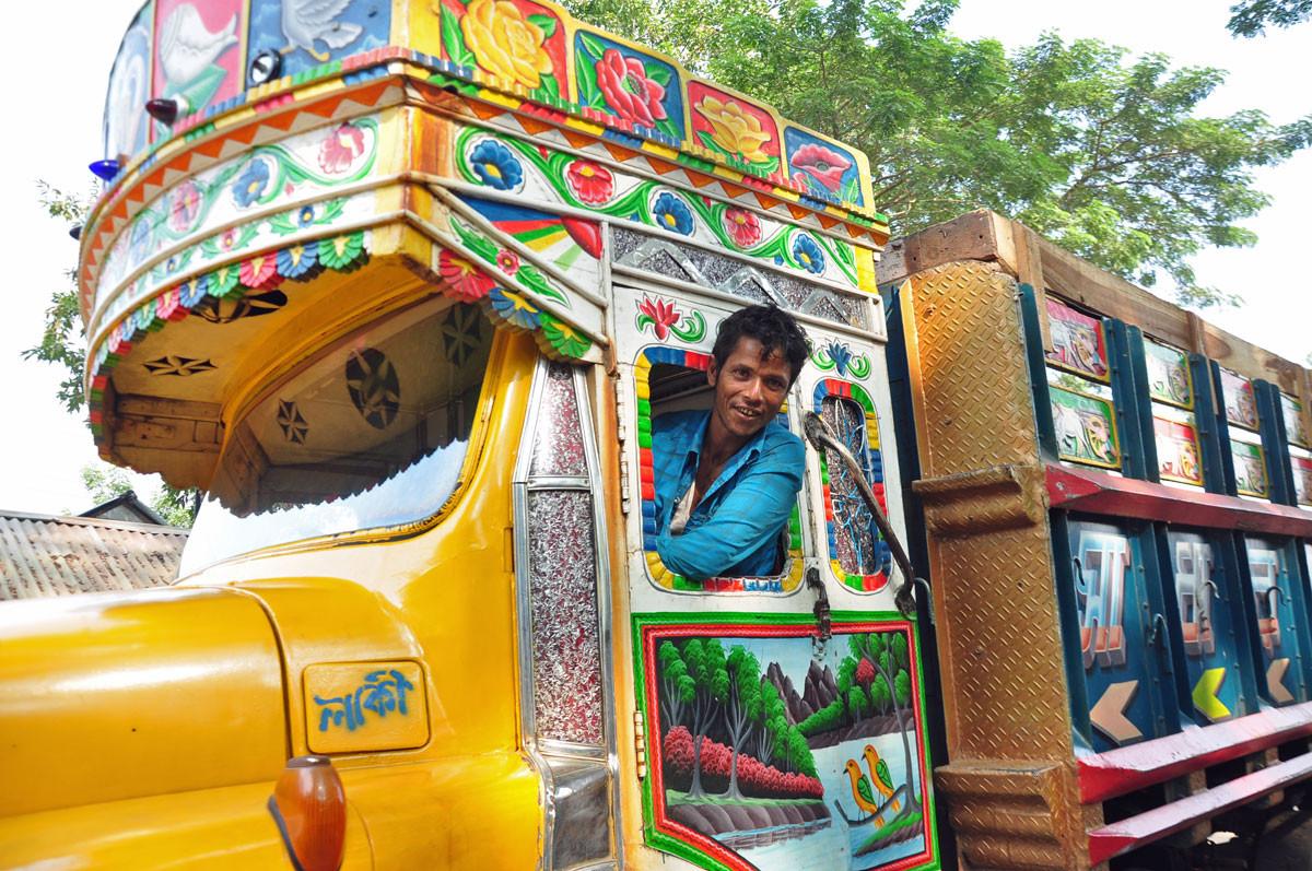 Mooi versierde trucks
