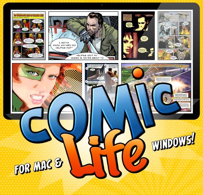 impression écran du site de Comic life