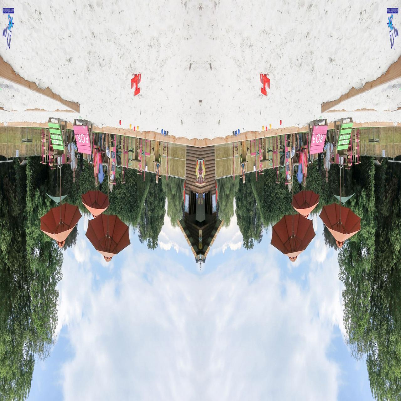 Fusion des calques et remettre au format carré et retournement de l'image à 180°