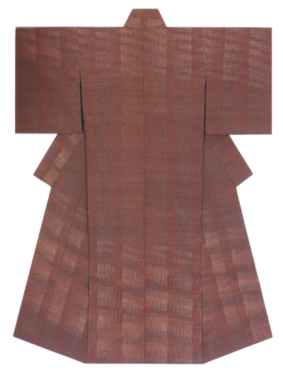 紬織着物 「燠火」