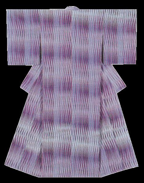 紬織着物 「紫苑」
