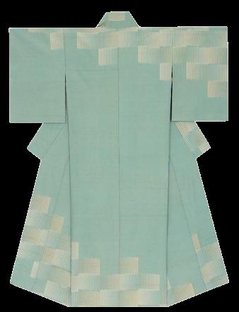 網代文紬織着物 「立夏」