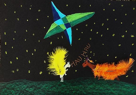 Maltherapie: ein Kind malt seine Gefühle