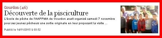 La Dépêche du Midi du samedi 14 novembre 2015.