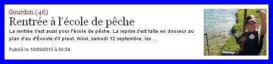 La Dépêche du Midi  18/09/2015