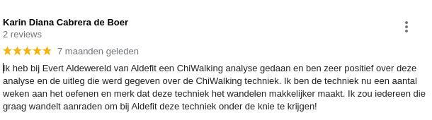 review aldefit wandeltraining almere chiwalking