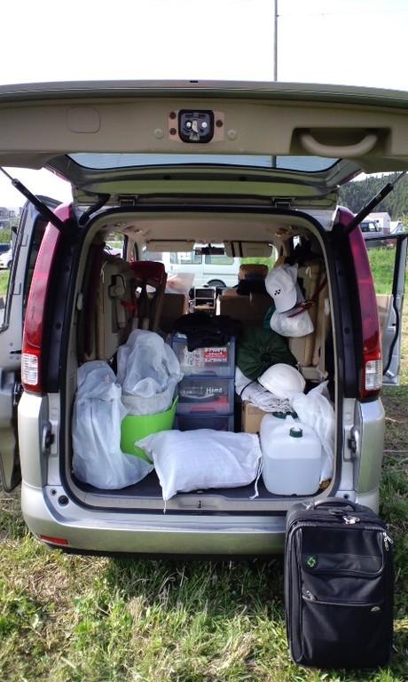 愛車セレナに荷物と想いを詰め込んで。