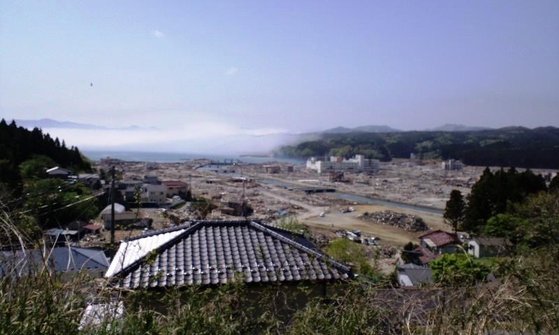 南三陸町(志津川小学校から市中心部)