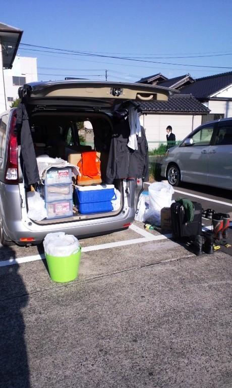 活動最終日。朝早起きして荷物の整理整頓。