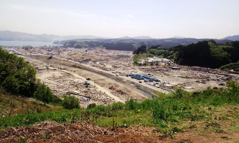 南三陸町(志津川中学校から市中心部)