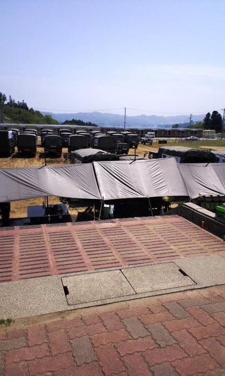 南三陸町(志津川中学校に駐屯していた沖縄の第15旅団の皆さん)