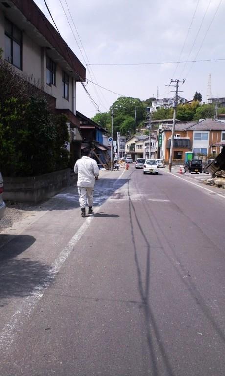 四日目:宮城県塩釜市(活動は家屋内外のゴミ出し、清掃)