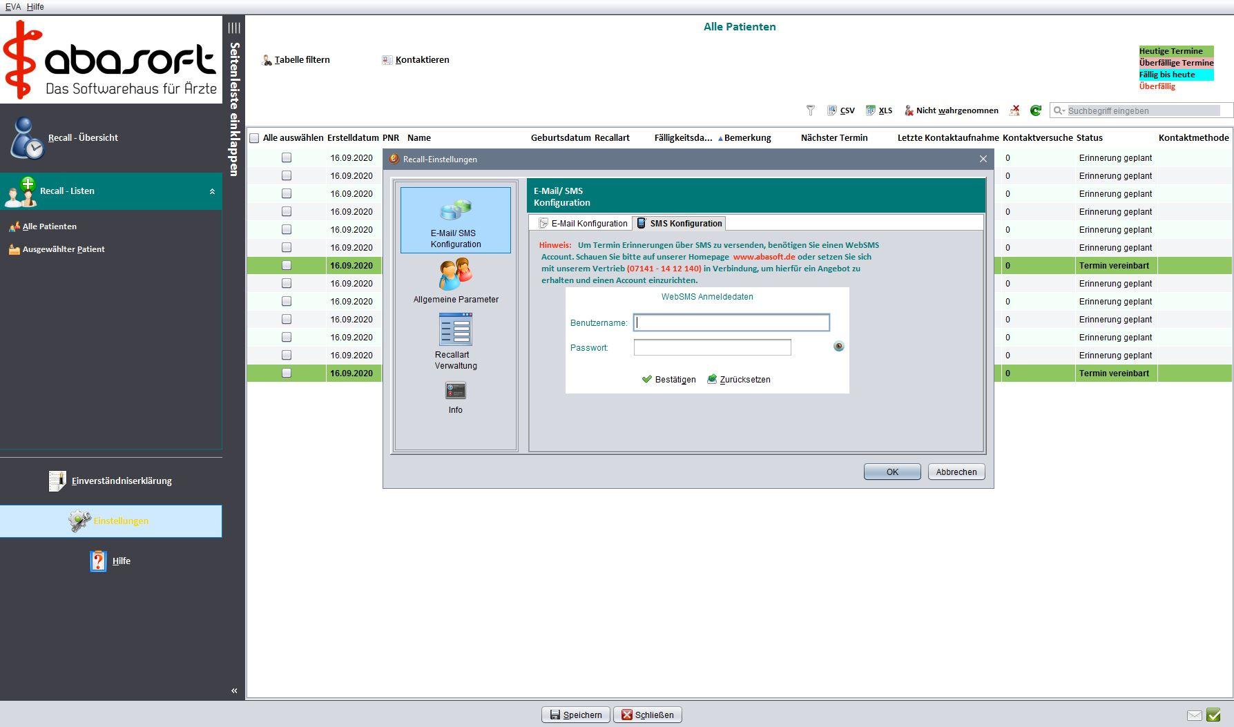 Die Einbindung unseres websms-Dienst ist denkbar einfach und ohne Installationsaufwand.