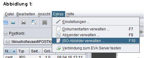 abasoft EVA Praxissoftware Arztsoftware Tagessicherung Archiv