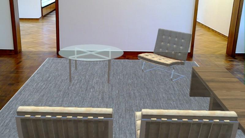 Screenshot aus der VR-Brille, Virtuelle Installation Haus Lange, Programmierung: cognitas.