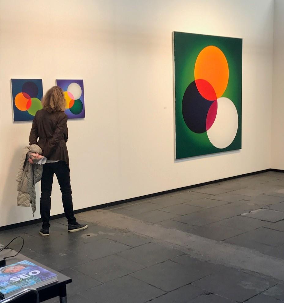 Standansicht Galerie Michael Schultz Berlin mit Arbeiten den koreanischen Künstlerin SEO. Foto: Gerhard Charles Rump.