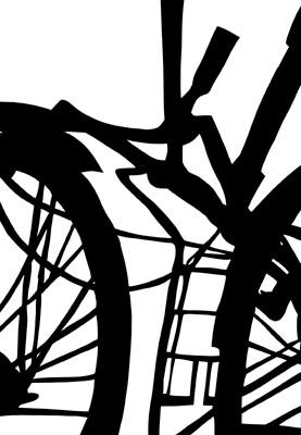 Martina Lückener  Räder  69x47 cm Papierschnitt 2001 Radwerk