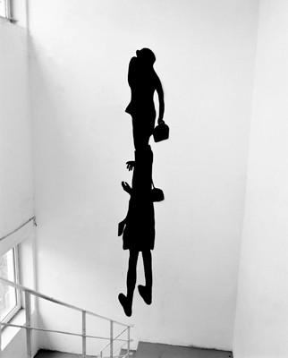 Martina Lückener  Einzweifigur 2000  4 x 0,70m Papierschnitt