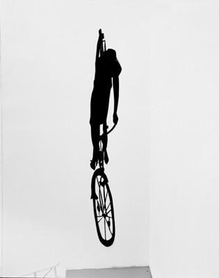 Martina Lückener  Einradfahrer 1999  3,50 x 0,50m Papierschnitt