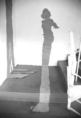 Martina Lückener  Schattenrisse Installation 1999 Papierisse